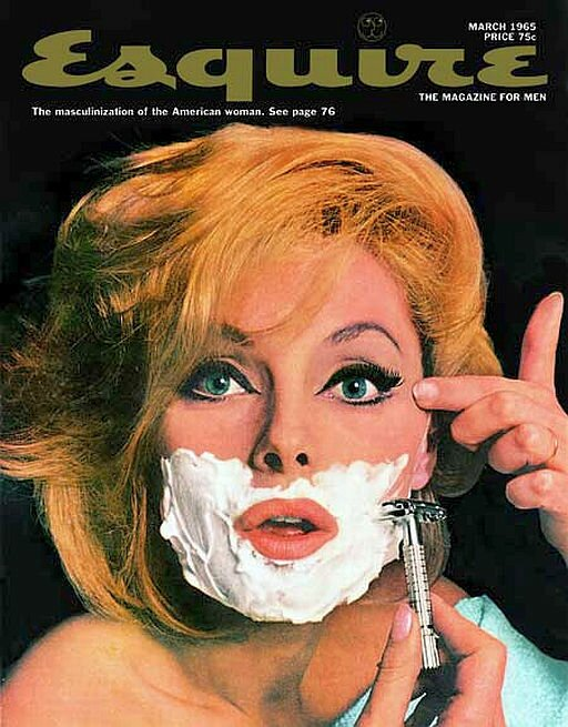Girls shaving on the front cover of magazines