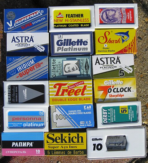 Some double edged safety razor blade brands