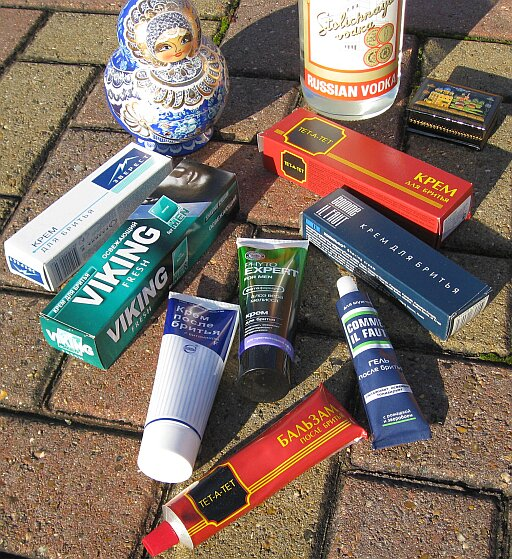 From Russia with love. Shaving creams and balms