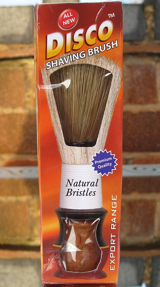 Disco bristle shaving brush from India
